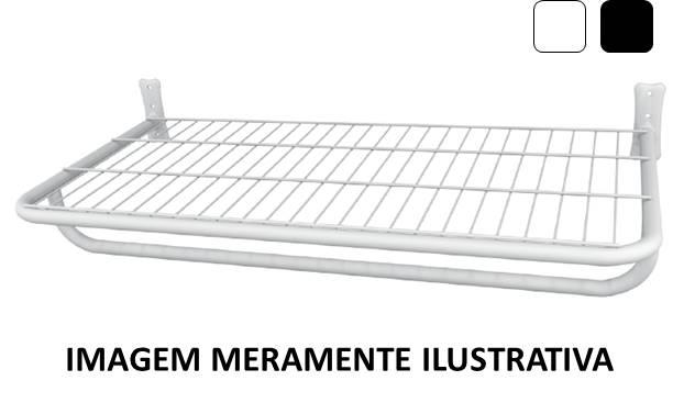 Arara de Roupas Prateleira c\ Pingente 0,40 x 1,20m