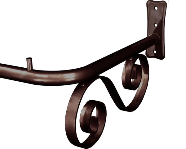 Arara de Roupas Fixa de Parede Vintage Cobre 1,00m