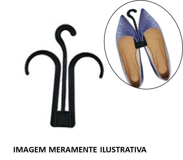 Cabide p/ Sapatilha Preto - Kit c/ 10