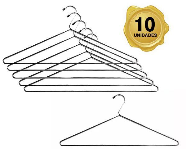 Cabide Tintureiro Cromado kit c\ 10 und