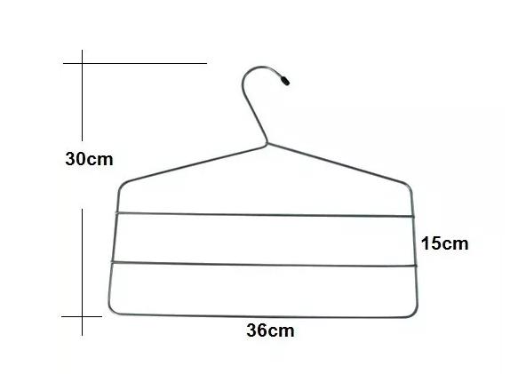 Cabide Triplo de Calça Cromado