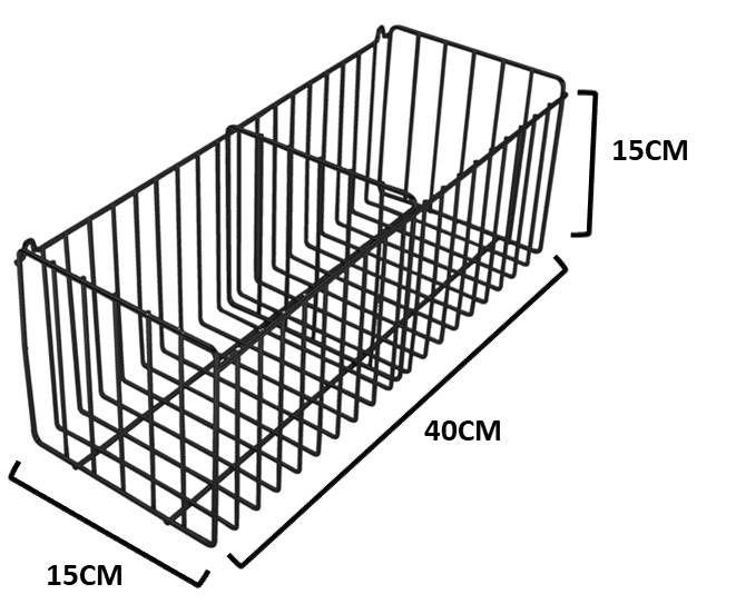 Cesto Multiuso c/ Divisão (40 X 15 cm)