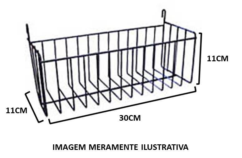 Cesto Multiuso c/ Gancho (30 cm)