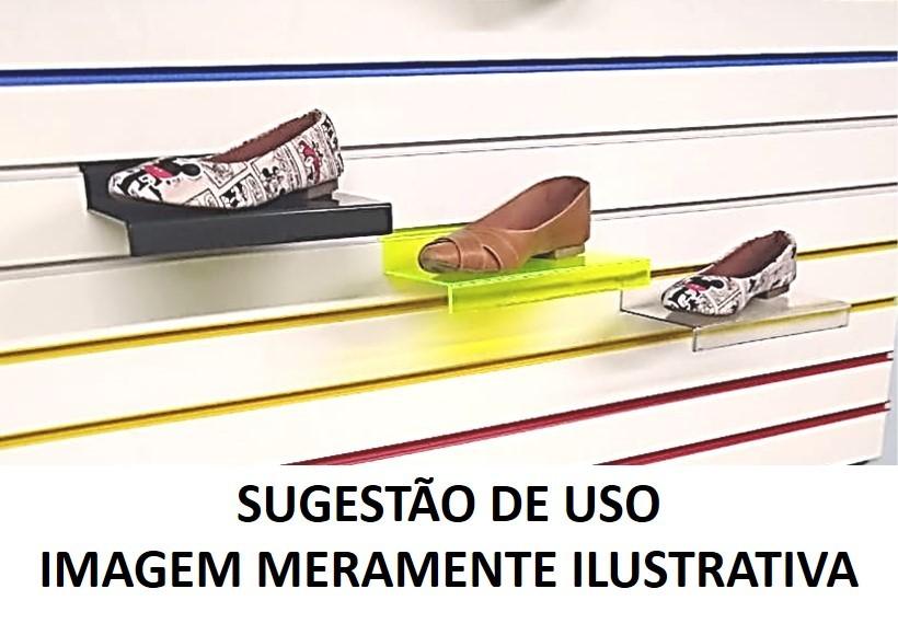 Expositor Acrílico Escadinha Calçados p/ Painel