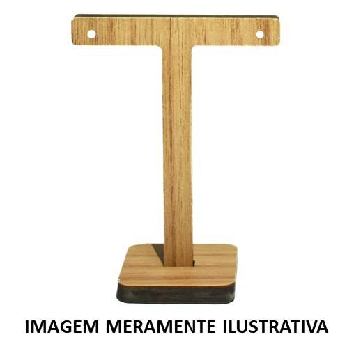 """Expositor MDF p/ Par de Brincos """"T"""" Médio"""