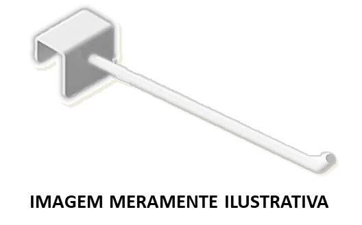 Gancho p/ Régua 20cm Branco