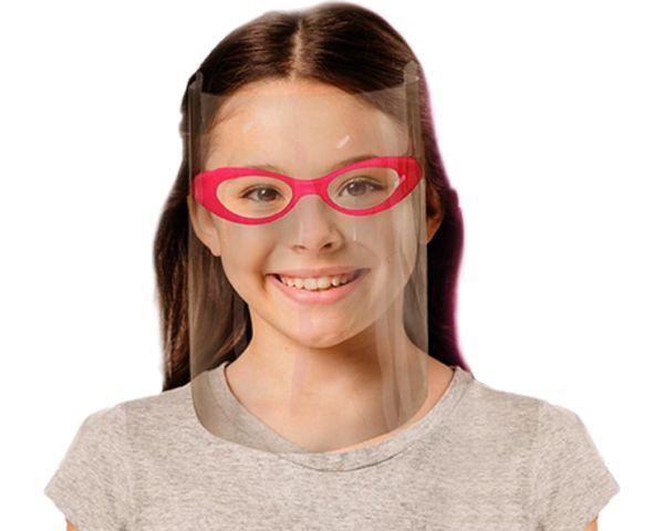 Máscara de proteção facial infantil  rosa (uni)