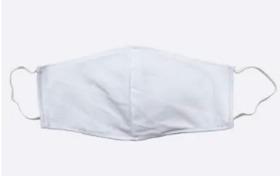 Máscara lavável branca (uni)
