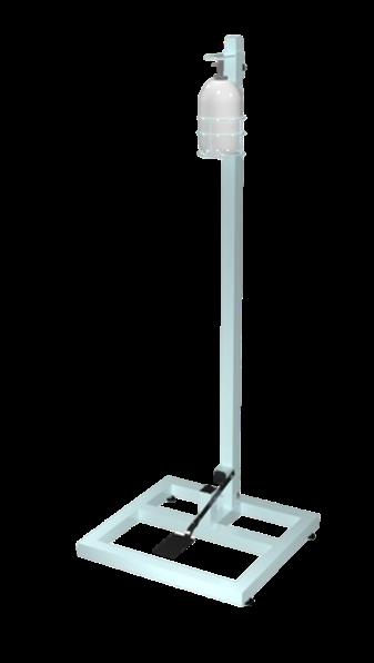 Pedestal p/ Álcool em gel (com frasco) Branco