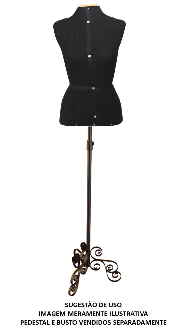 Pedestal p/ Busto Costura Vintage Cobre