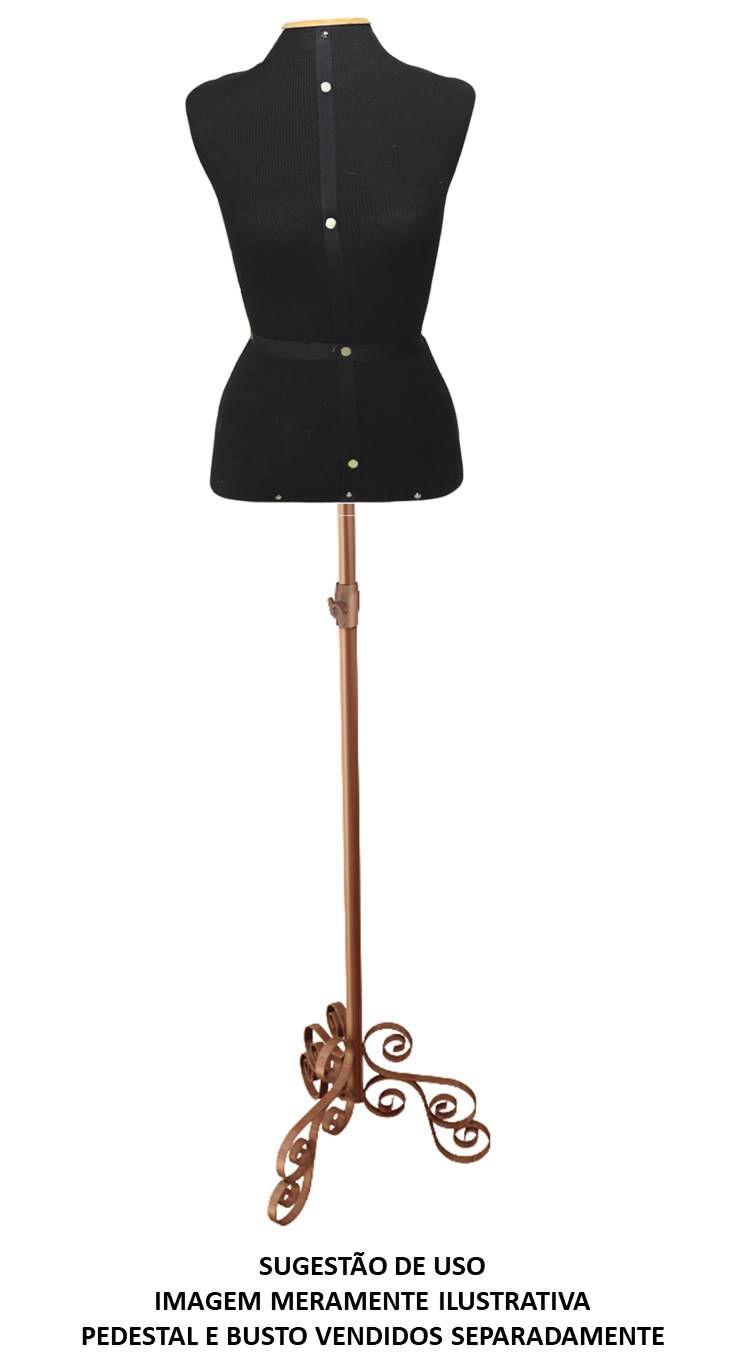Pedestal p/ Busto Costura Vintage Rosê