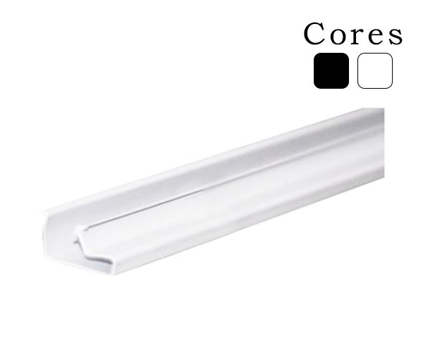 Perfil plástico p/ painel canaletado (1,22m)