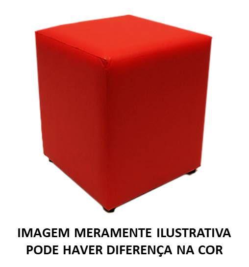 Puff Quadrado Vermellho