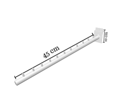 RT INCLINADO POP DE PAINEL PRETO 40 cm