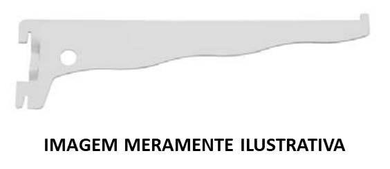 Suporte chapa p/ trilho 30cm branco