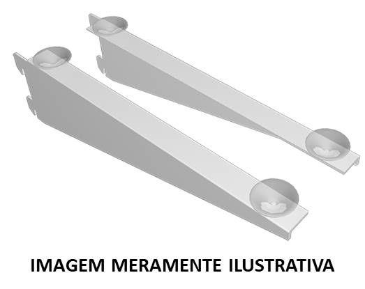 Suporte com Ventosa p/ Trilho 30cm Branco (Kit c/2)