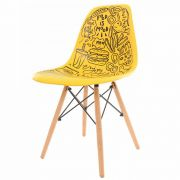 Cadeira Charles Eames Eiffel Yellow Food