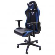Cadeira Gamer EagleX Pro Giratória com Ajuste de Altura, Reclinável e Braços Ajustáveis Azul