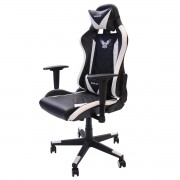 Cadeira Gamer EagleX Pro Giratória com Ajuste de Altura, Reclinável e Braços Ajustáveis Branca