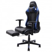 Cadeira Gamer Matrix Azul Com Descanso De Pé