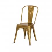 Cadeira Tolix Iron Design Dourada