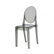 Cadeira Victoria Ghost Preta Translúcido
