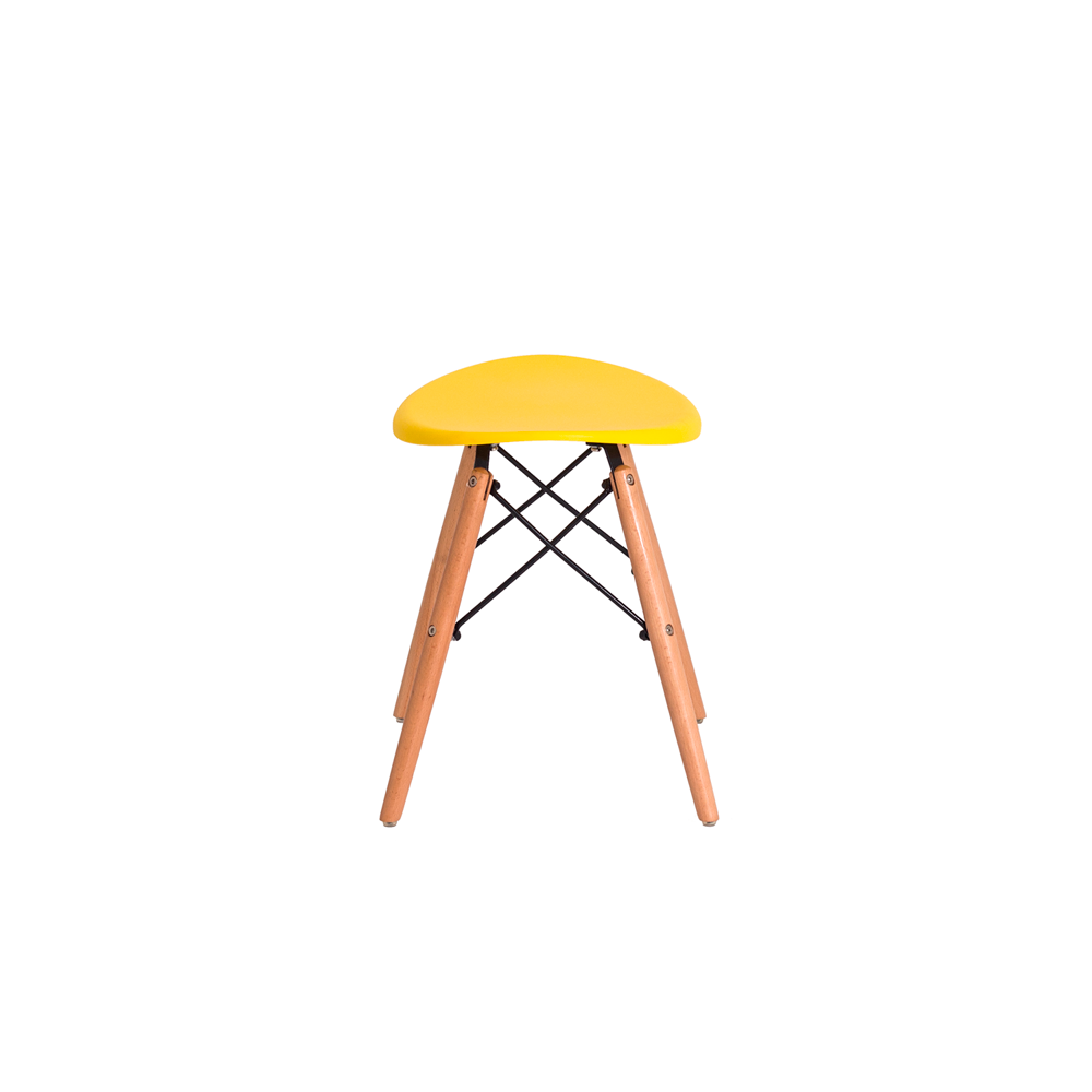Banqueta Puff Design Eiffel Eames Amarela
