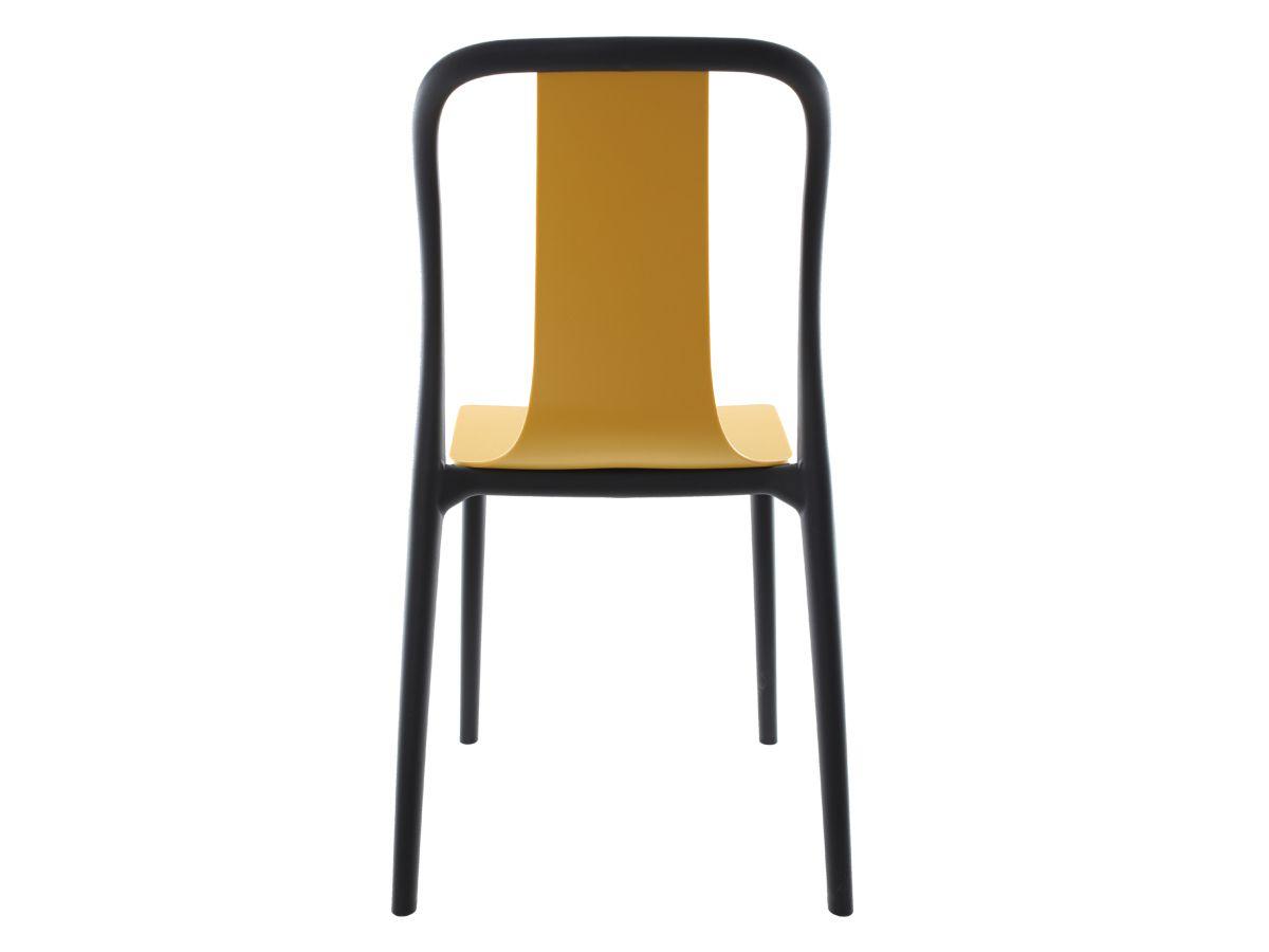 Cadeira Belle Amarela Empilhável