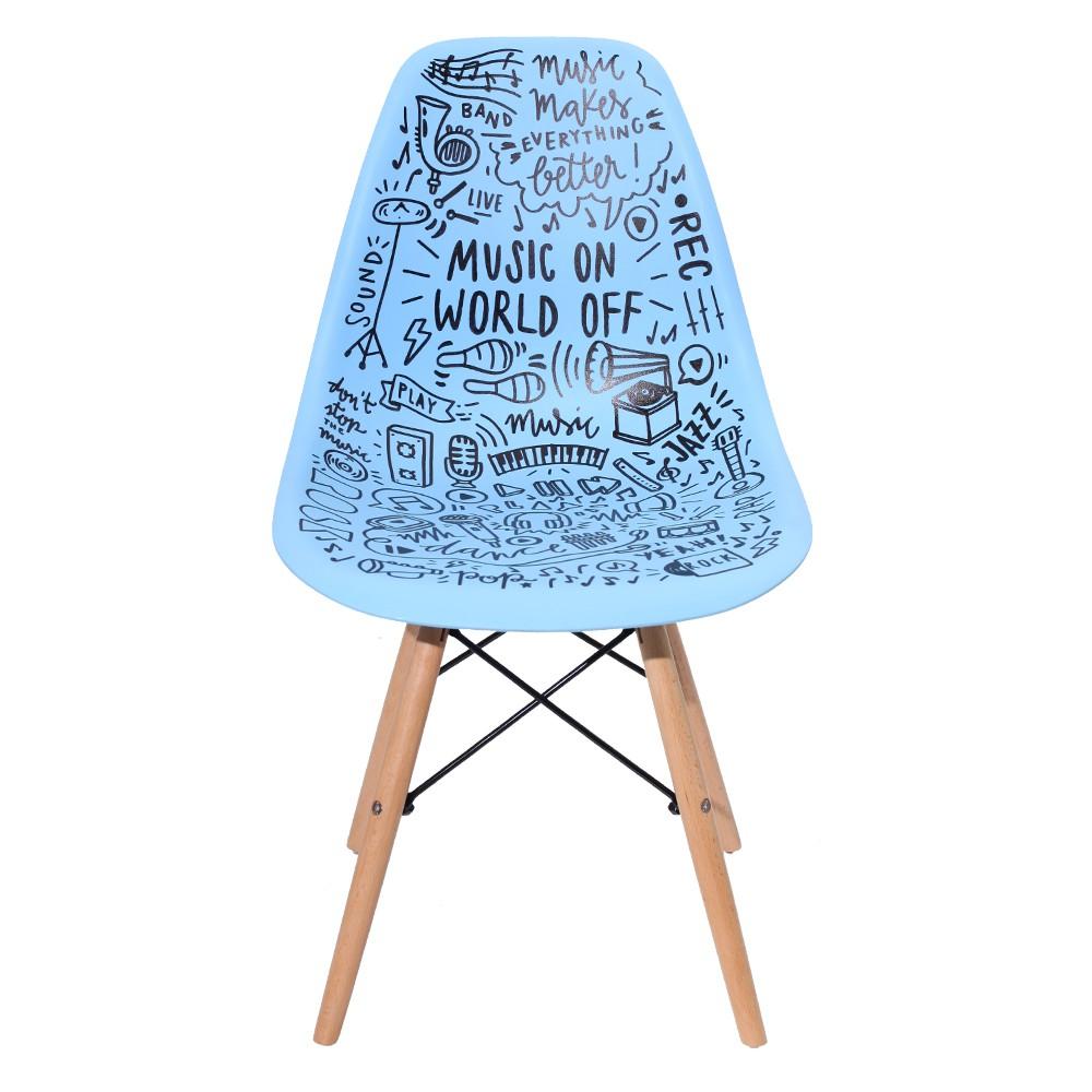 Cadeira Charles Eames Eiffel Blue Music