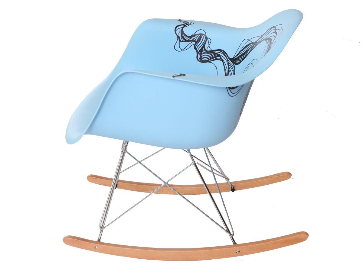 Cadeira Charles Eames Eiffel De Balanço Black Wave