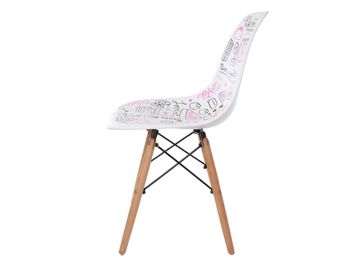 Cadeira Charles Eames Eiffel  White Candy