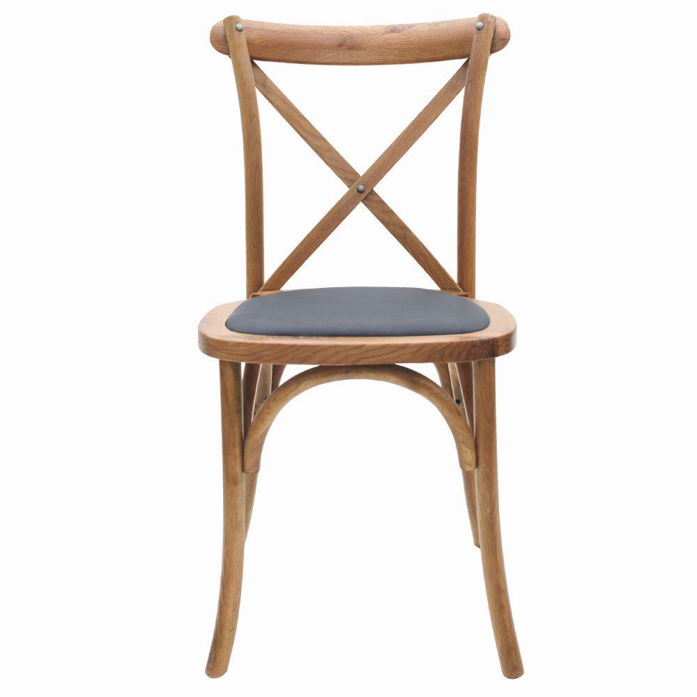 Cadeira Cross Katrina Empilhável Com Assento Em Pu