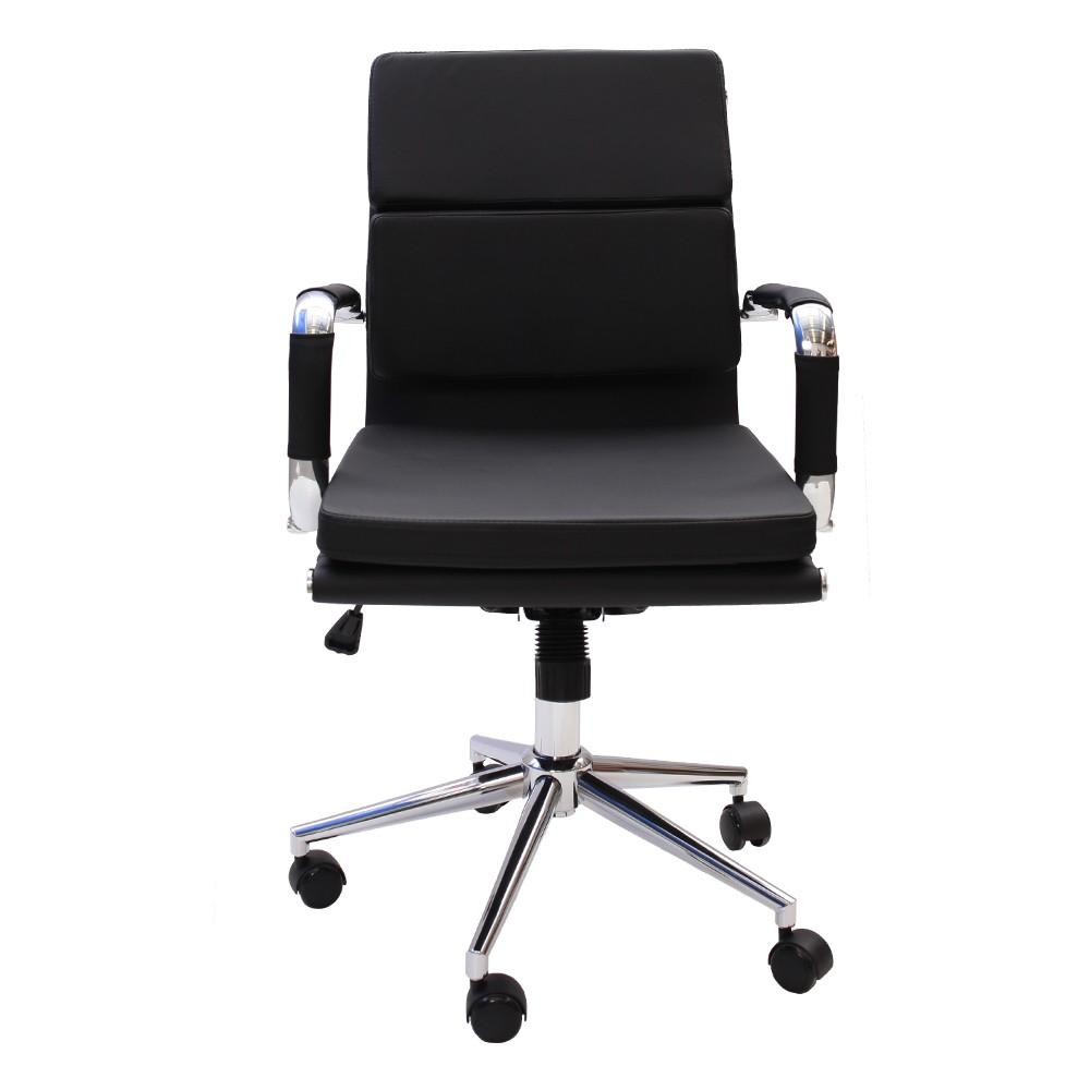 Cadeira De Escritório Diretor Stripes Esteirinha Charles Eames Preta