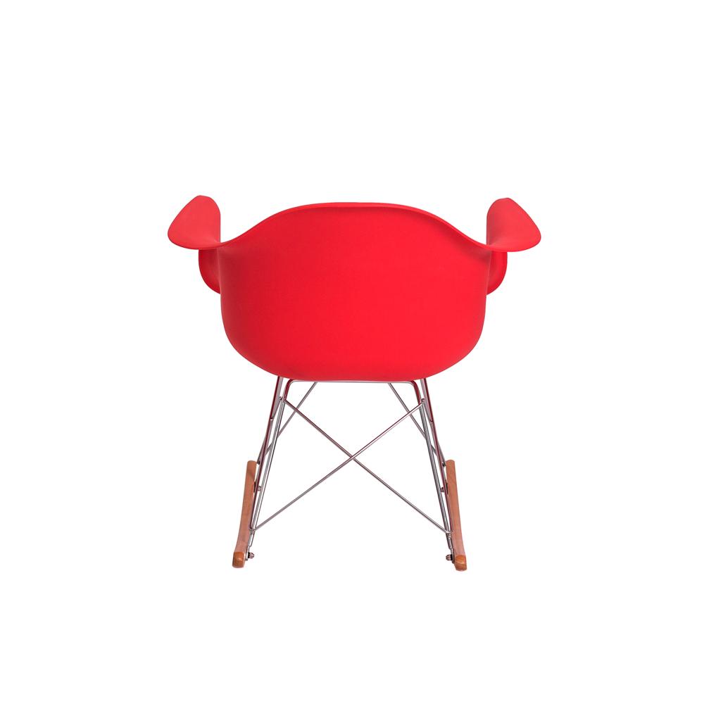 Cadeira Eiffel Eames RAR Com Braço Vermelha Balanço