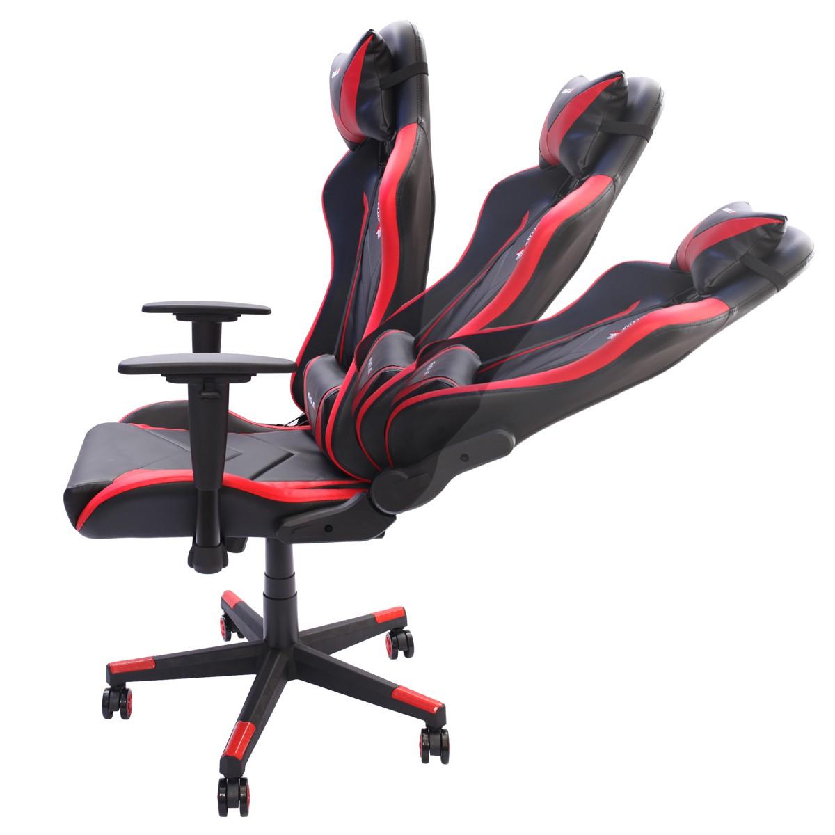 Cadeira Gamer EagleX Pro Giratória com Ajuste de Altura, Reclinável e Braços Ajustáveis Vermelho