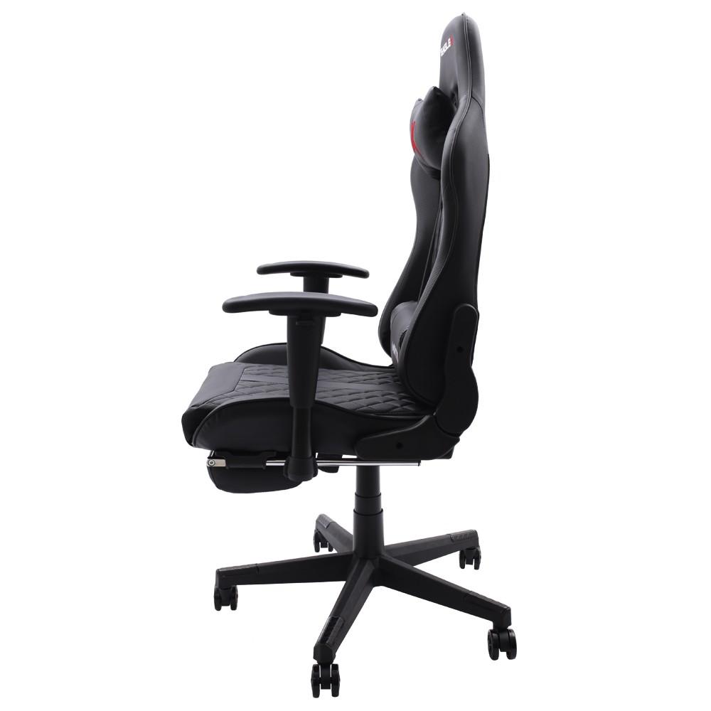 Cadeira Gamer Matrix Preta Com Descanso De Pé