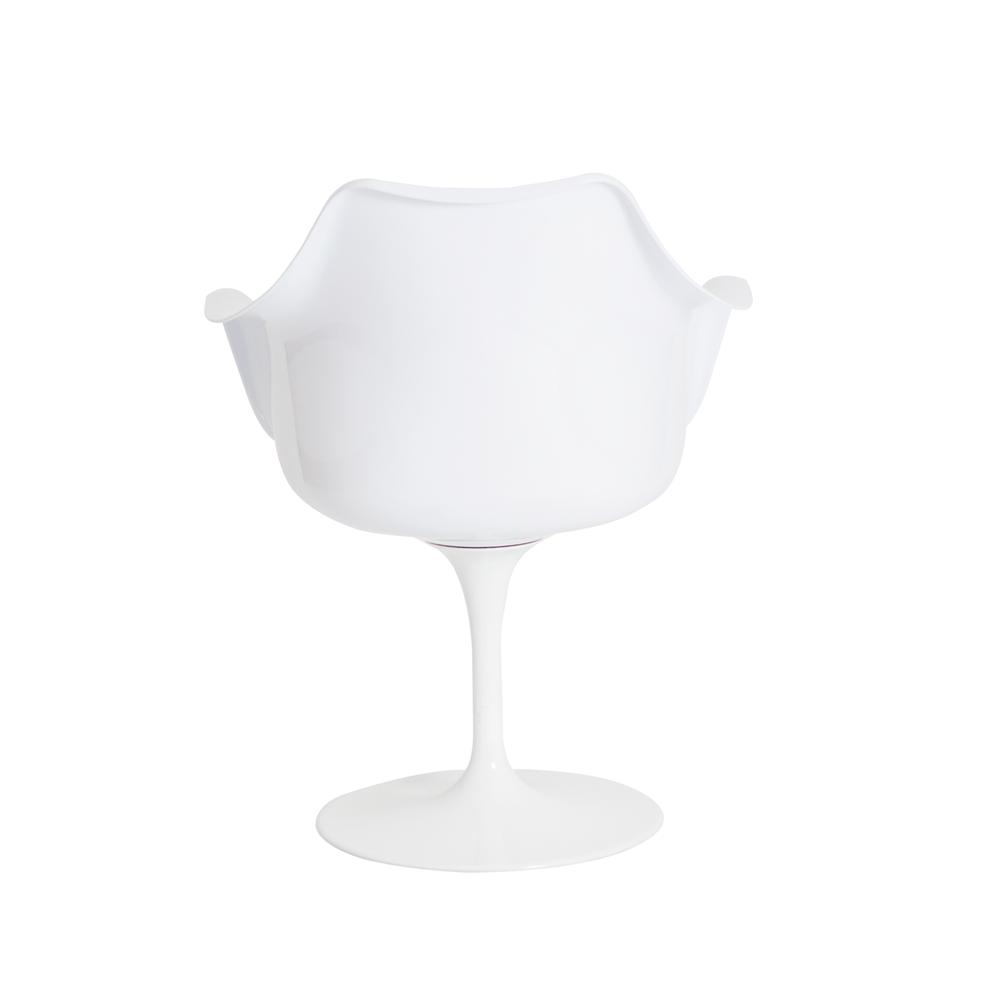 Cadeira Saarinen Design c/ Braço Vermelho com Branco