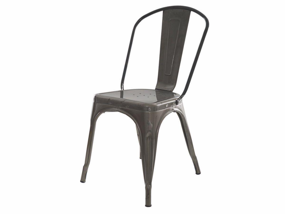 Cadeira Tolix Iron Industrial Metal Envelhecida