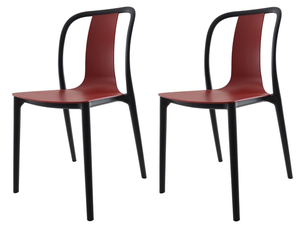 Kit 2 Cadeiras Belle Vermelho Telha Empilhável