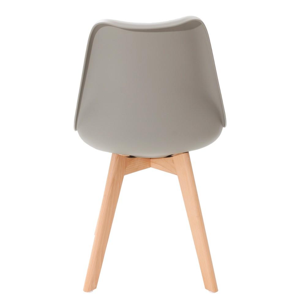 Kit 2 Cadeiras Saarinen Leda Design Cinza
