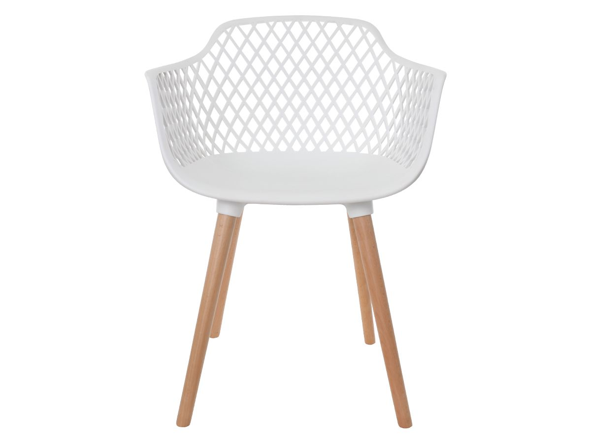 Kit 2 Cadeiras Vision Com Braço Branca