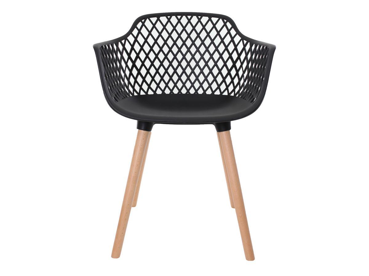 Kit 2 Cadeiras Vision Com Braço Preta