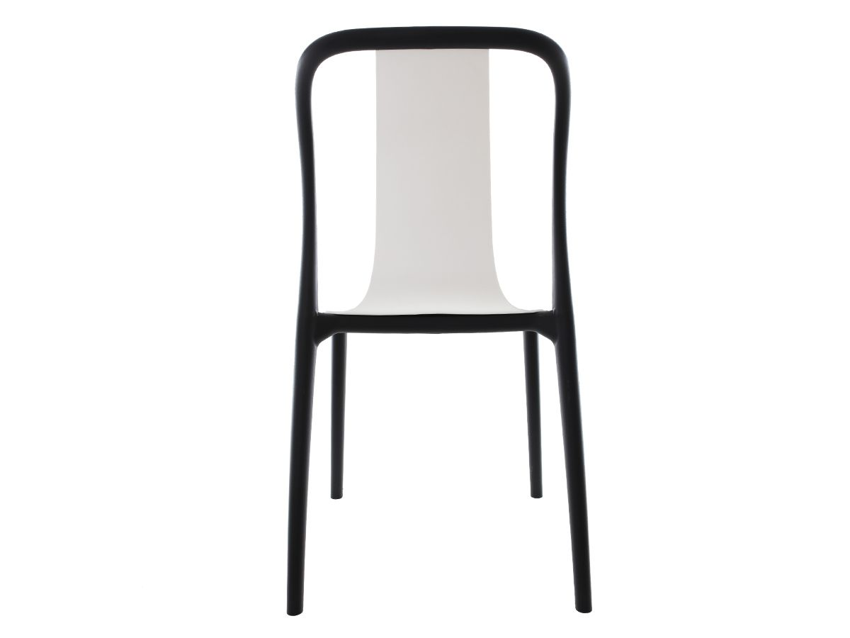 Kit 3 Cadeiras Belle Branca Empilhável