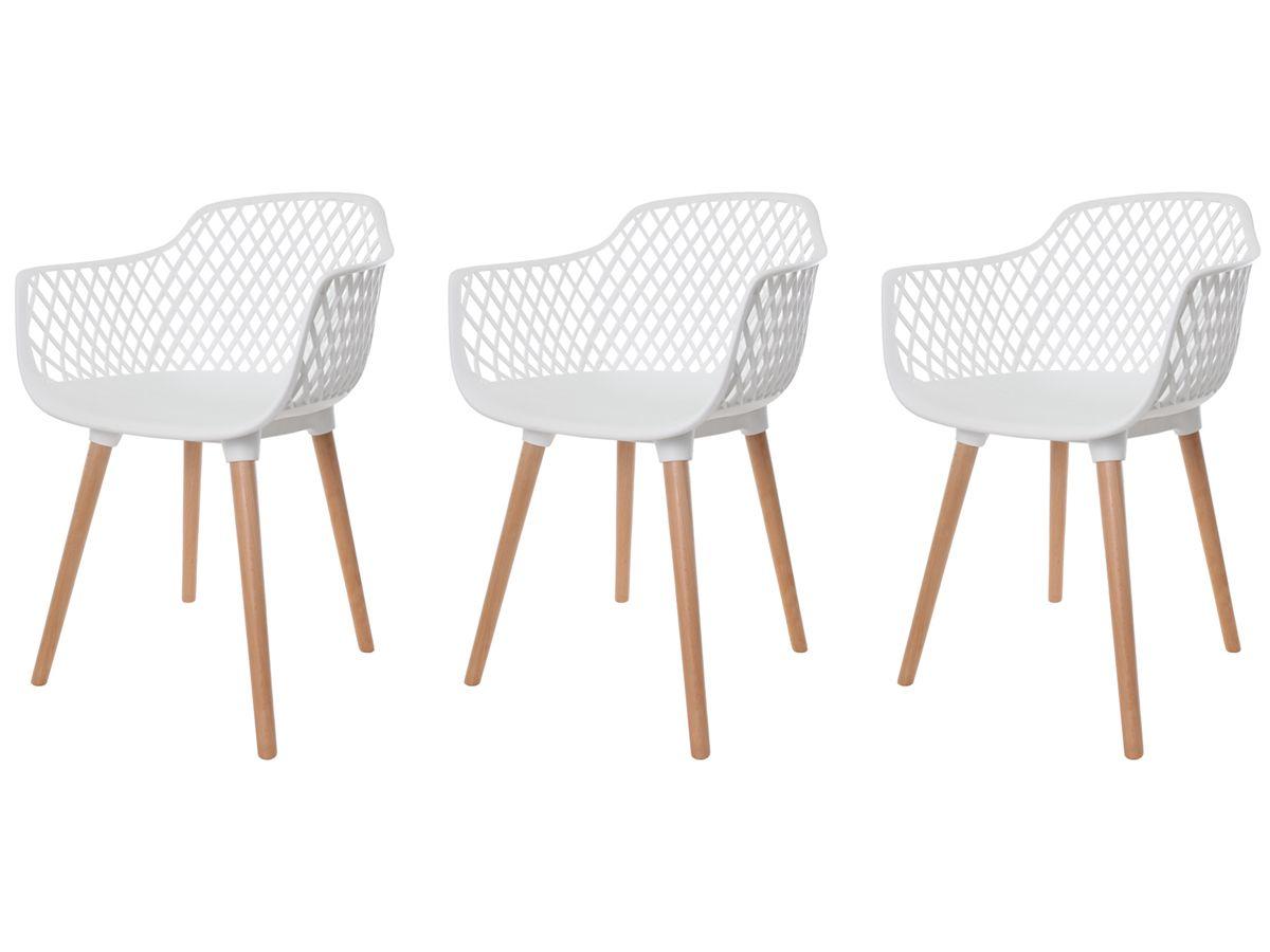 Kit 3 Cadeiras Vision Com Braço Branca
