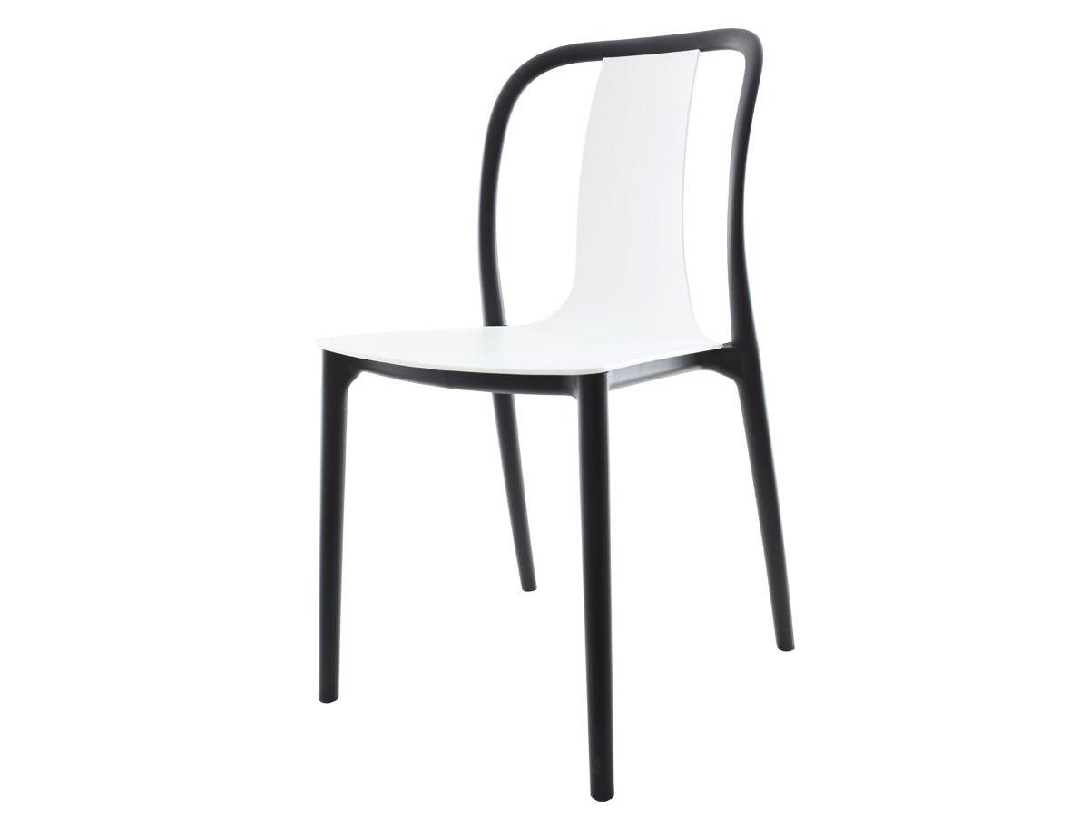Kit 4 Cadeiras Belle Branca Empilhável