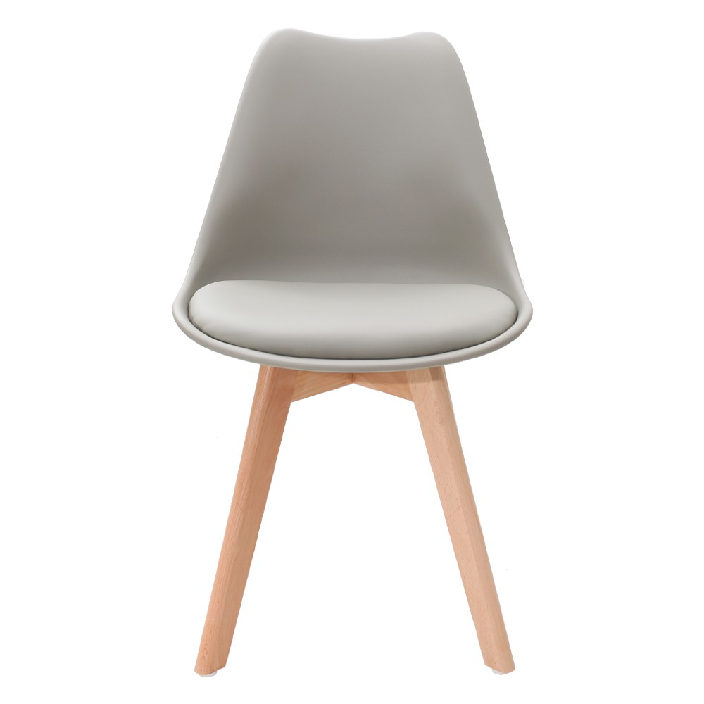 Kit 4 Cadeiras Saarinen Leda Design Cinza