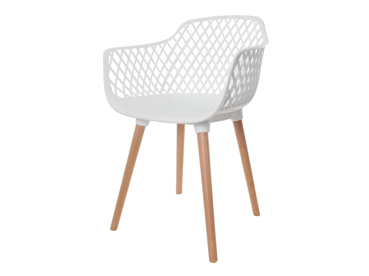 Kit 4 Cadeiras Vision Com Braço Branca
