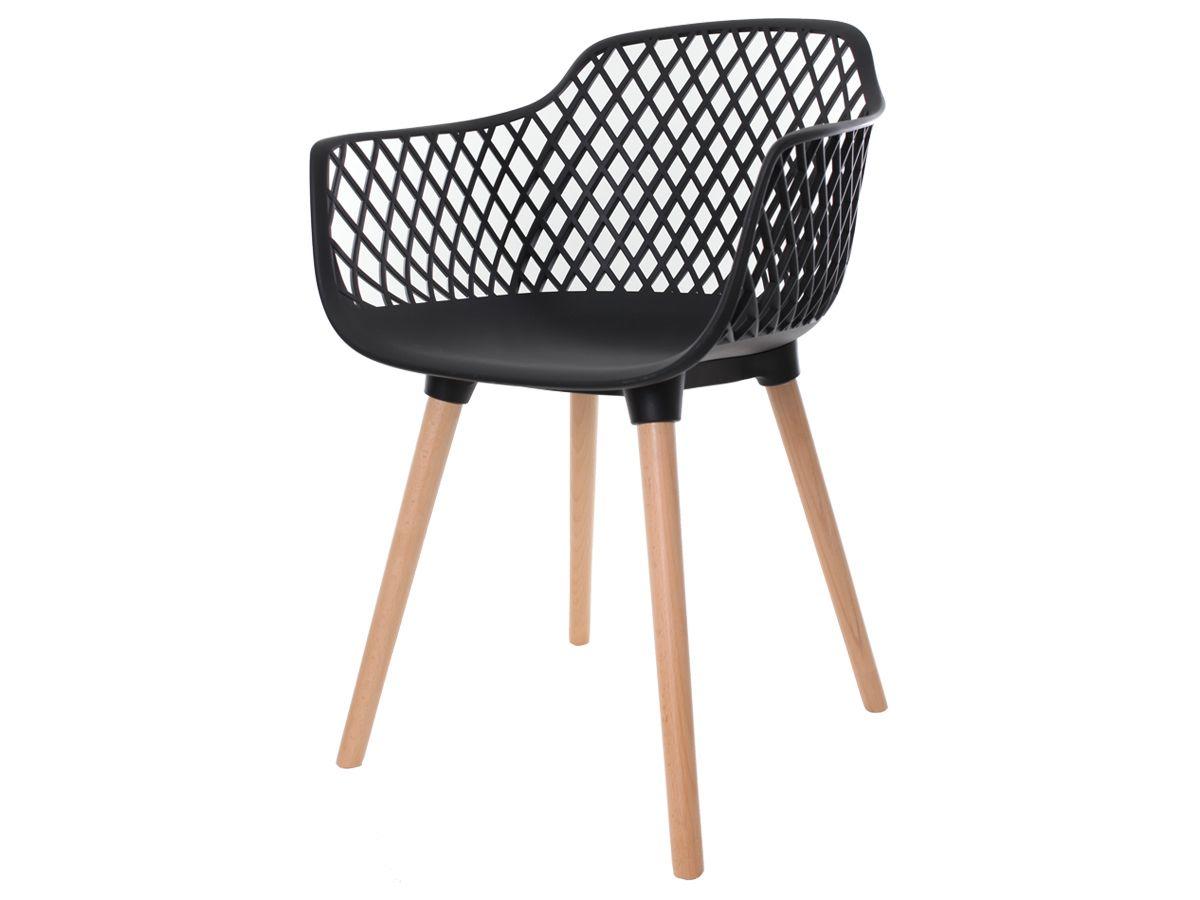 Kit 4 Cadeiras Vision Com Braço Preta