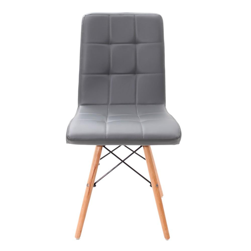 Kit 4 Cadeiras Charles Eames Gomos Cinza