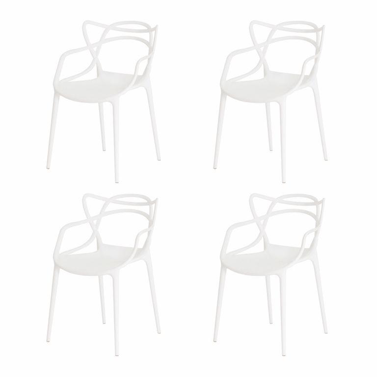 Kit 4 Cadeiras Allegra Branca